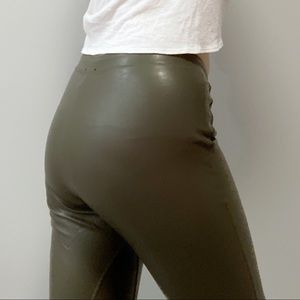 Aritzia Wilfred Free Olive Green High Waisted Pant